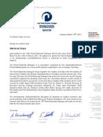 Participation WBD de Ocana, Marcia