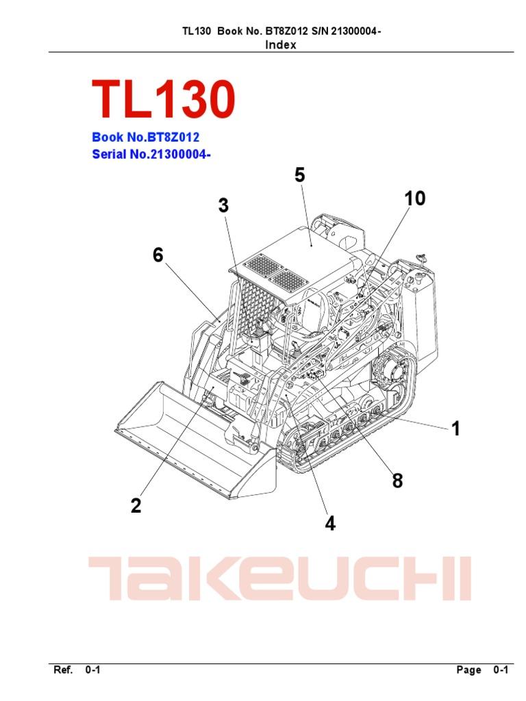 takeuchi parts manual tl130 bt8z012 21300004 rh scribd com takeuchi tl150 wiring diagram takeuchi tl140 wiring diagram