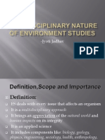 Multidisciplinary Nature of Environment Studies