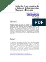 Programa de Control de Competencias Docentes y Discentes