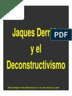 Deconstrucionismo J Derrida