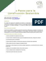 10 Pasos Para La Construccion Sostenible