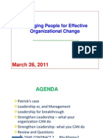 Managing People for Effective Org Change