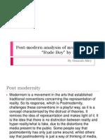 Post-Modern Analysis of Music Video updated