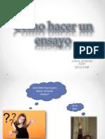 Como hacer un ensayo español
