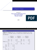 Reglas de Cramer Para Ecuaciones Lineales