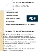 Variables Macroeconomicas