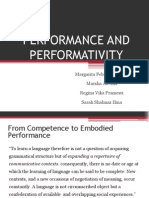 Performance and Performativity - Linguistic Imperialism