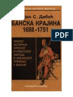 Banska krajina 1688-1751 Vojin Dabic