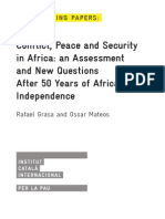 Conflict, Peace and Security in Africa