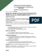 PLAN DE APOYO Y ESTRATÉGIAS PARA LA SUPERACIÓN DE DEBILIDADES GEOMETRÍA 7° PERIODO 3 - 2013