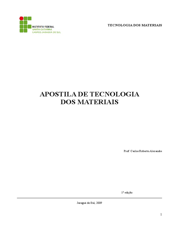 874a61d6a85 Apostila Tecnologia Dos Materiais Completa