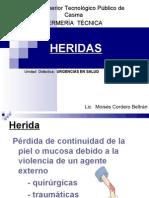 HERIDAS URGENCIAS EN SALUD