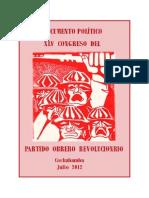 12- Documento político XLV congreso Cochbba. 2012