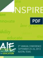 AIE 2013 Program
