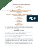 ORDENANZA SOBRE ÁREAS VERDES PÚBLICAS MUNICIPALES
