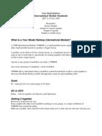 YMR International Module Standards REV a 30 June 2009