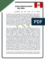 PROBLEMÁTICA ELECTORAL DEL COLEGIO ODONTOLÓGICO DEL PERÚ