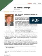 La donné a changé - Le Dauphiné Libéré