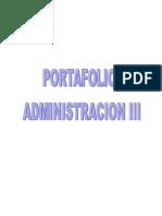 Portafolio Administracion III