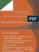 Lesson 10_Common Usage Errors