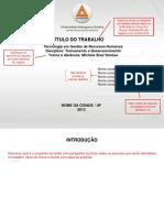 MODELO ATPS -Treinamento e Desenvolvimento 2013