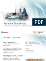 Janalent SharePoint Series - Administration Management and Migration (Part 2)