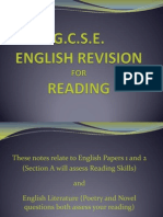 GCSE English Revision for Reading
