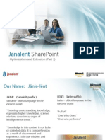 Janalent SharePoint Series - Optimization and Extension (Part 3)