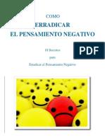 Como Erradicar El Pensamiento Negativo