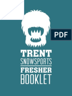 Trent Snowsports Freshers Booklet