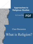Approaches to Religious Studies