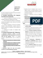 Requisitos Certificado y Obligaciones de Coop Banco Comunal