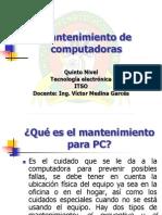 Mantenimiento PC 2008