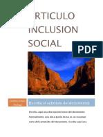 Articulo Inclusion Social