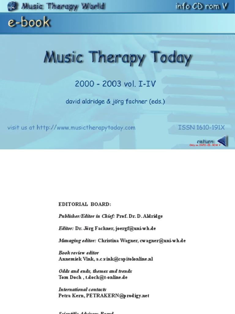 Music Therapy Today | Dementia | Palliative Care