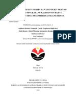Penentuan Jenis Batuan Besi Di Kawasan Bukit Munung Kabupaten Bengkayang Kalimantan Barat Berdasarkan Nilai Suseptibilitas Magnetiknya