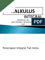 Penerapan Integral Tak Tentu