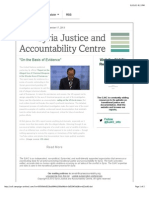 """""""on the Basis of Evidence"""" - The SJAC Weekly Update"""