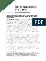 1870 1914 Movimientos Migratorios