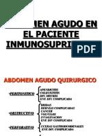 Abdomen Agudo en El Paciente Inmunosuprimido