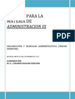ADMON III Organizacion