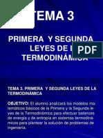 Tema 3 Primera y Segunda Leyes de La Termodinamica