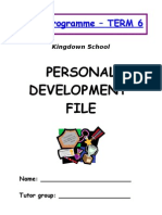 Personal Development Profle (Tutor Programme)