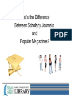 Scholarly Popular