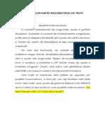 Exemplos de Textos Com Partes Desconectadas Do Tema