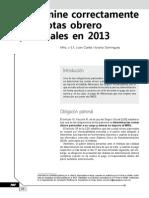 Determine Correctamente Las Cuotas Obrero Patronales en 2013