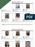 Crime Report 11-21-11 Through 11-27-11