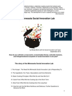 Basic Cooking Principles for Creating a Social Innovation Lab