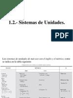 1.2 Sistemas de Unidades